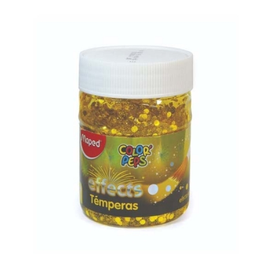 Tempera Maped Effect Pote 250 Gr Amarill